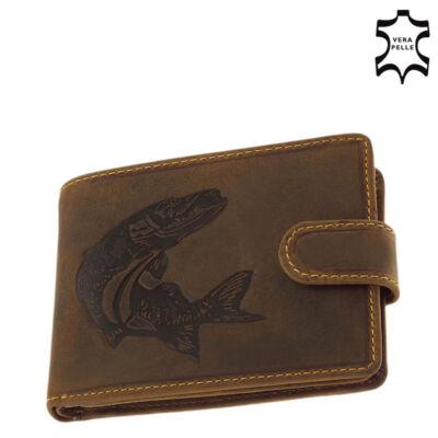 GreenDeed horgász pénztárca csuka mintával díszdobozban ACS08/T