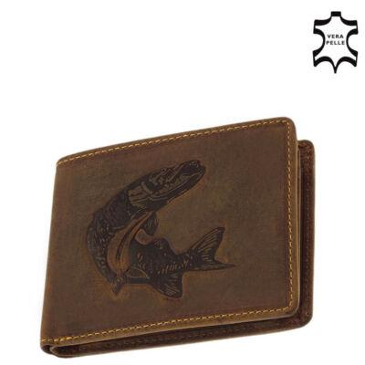 GreenDeed horgász pénztárca csuka mintával díszdobozban ACS99