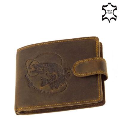 GreenDeed horgász pénztárca csuka mintával díszdobozban B08/T