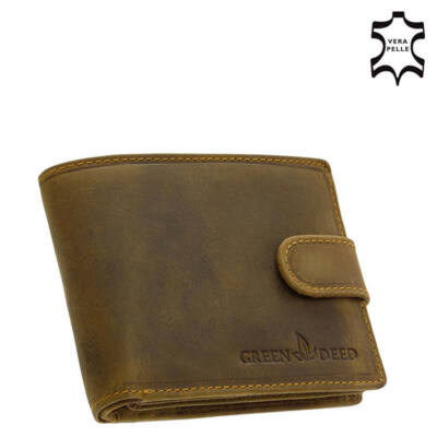 Green Deed férfi pénztárca RFID védelemmel díszdobozban DOP08/T