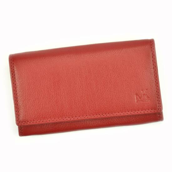Valódi bőr Pénztárca piros színben RFID védelemmel
