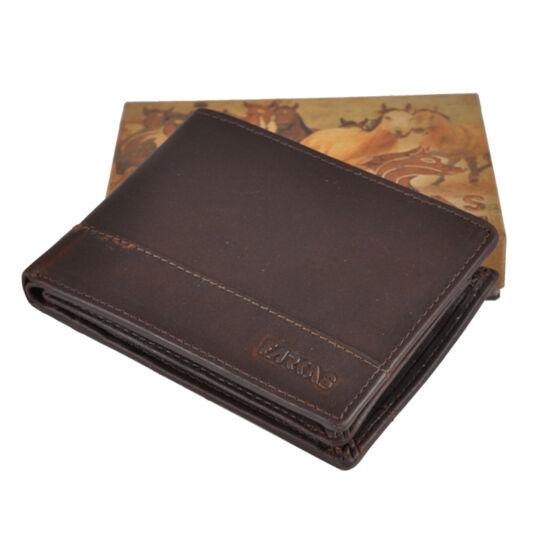 Férfi bőr pénztárca barna színben 10522 Brown