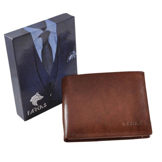 Férfi bőr pénztárca barna színben RFID védelemmel 38658 Brown