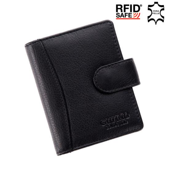 GIULIO COLLECTION valódi bőr kártyatartó RFID rendszerrel*