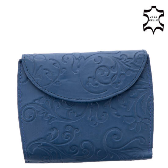 Sylvia Belmonte valódi bőr kék női pénztárca NY02 Blue