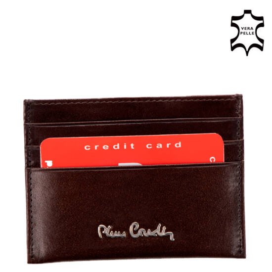 "Pierre Cardin valódi bőr férfi sötétbarna kártyatartó díszdobozban "" 520 10 475 Brown """