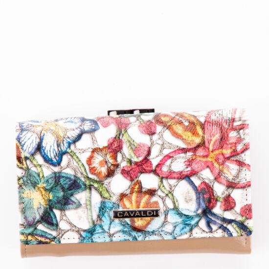 Cavaldi női virágmintás pénztárca PN23 3