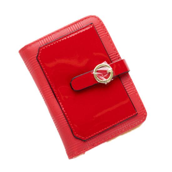 Piros kártyatartó pénztárca