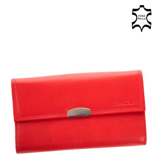 La Scala Valódi Bőr Pincér Pénztárca DG-89/B Red