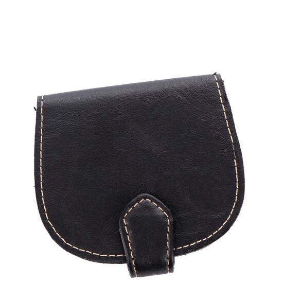 Patkó pénztárca fekete színben