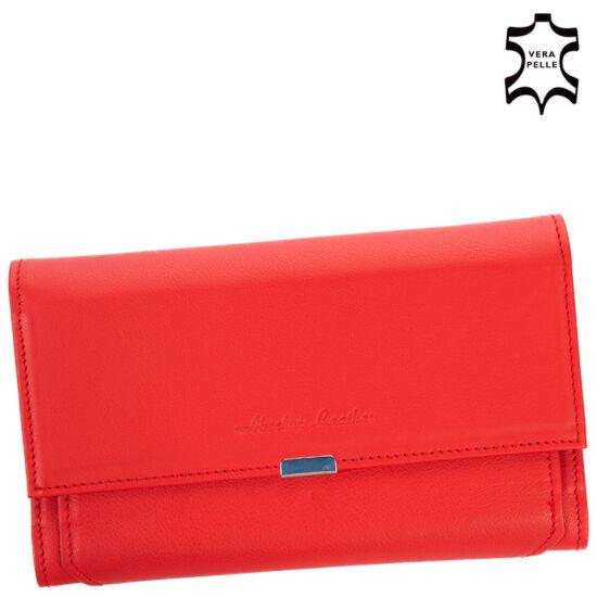 Valódi bőr brifkó pénztárca 7425 Red