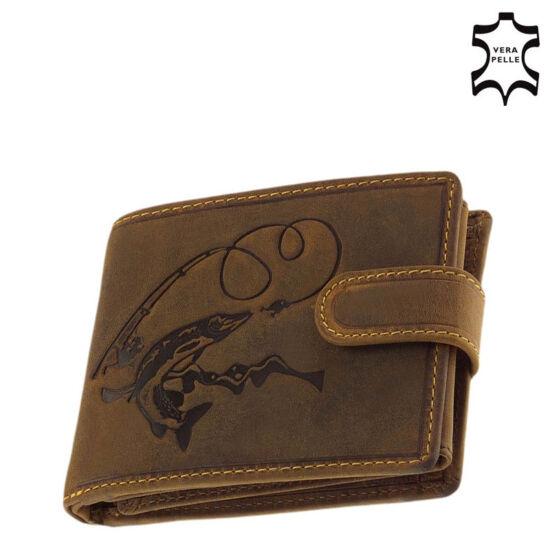 GreenDeed horgász pénztárca csuka mintával díszdobozban ACSB08/T
