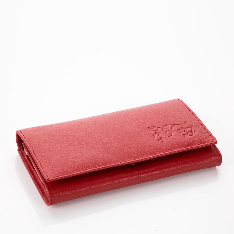 27431060d3e1 Fairy valódi bőr piros női pénztárca RFID védelemmel díszdobozban+ ...