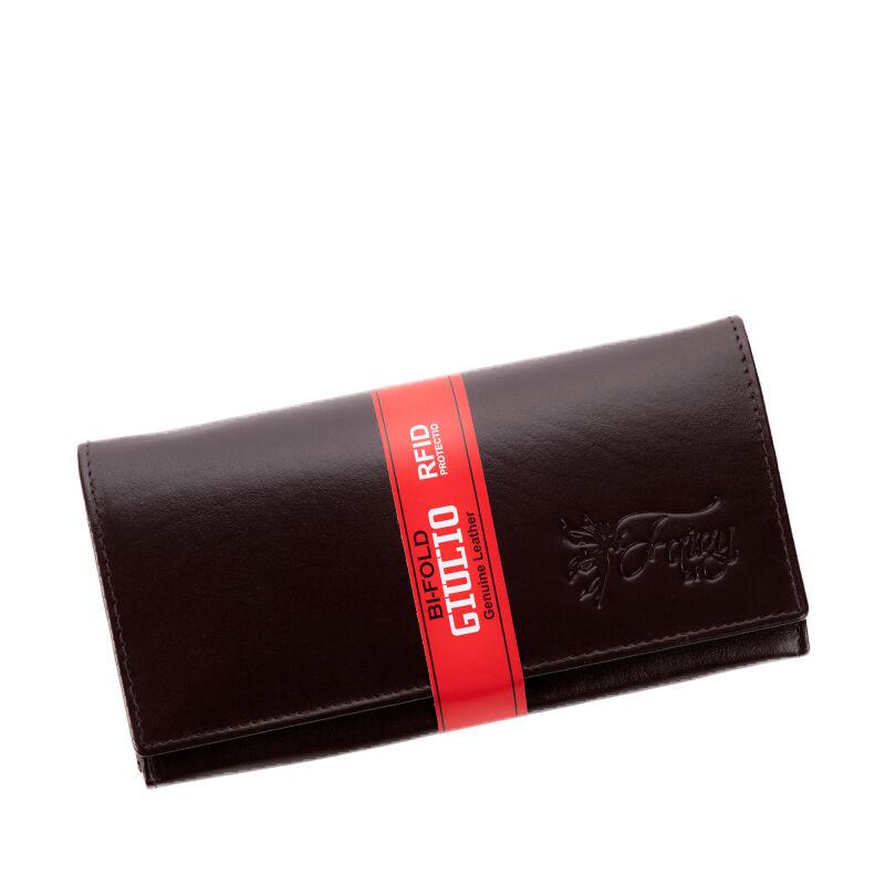 Fairy valódi bőr sötétbarna női pénztárca RFID védelemmel+ - Fairy ... 602b6641d4