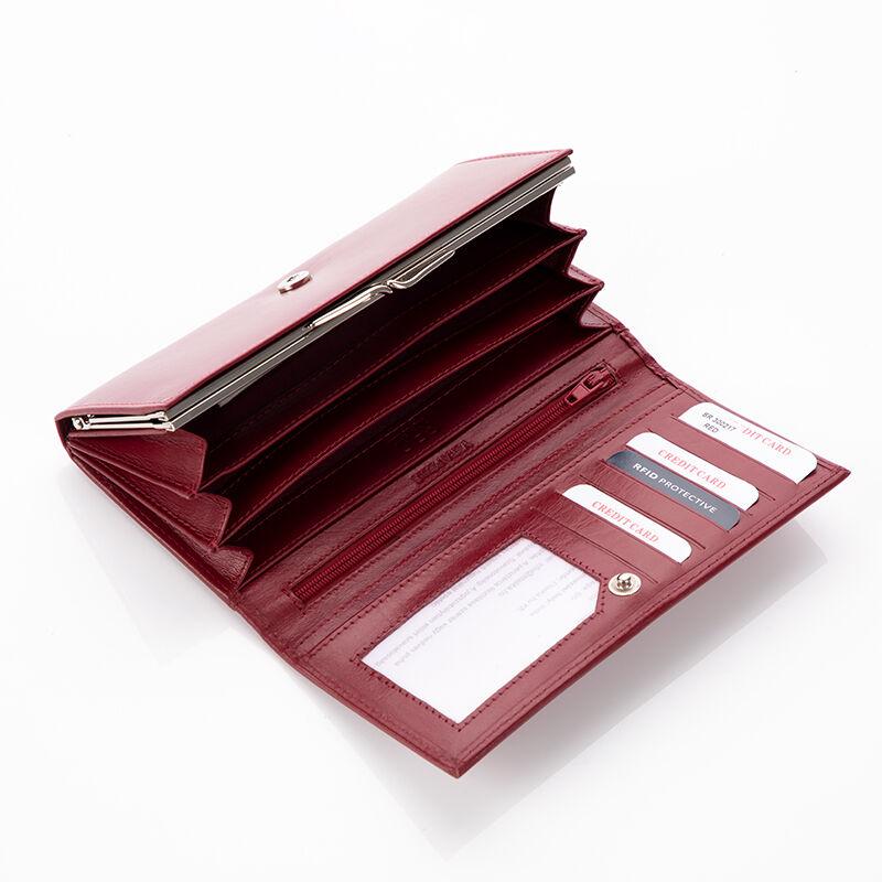 Fairy valódi bőr bordó női pénztárca díszdobozban RFID védelemmel ... f5328df9ef