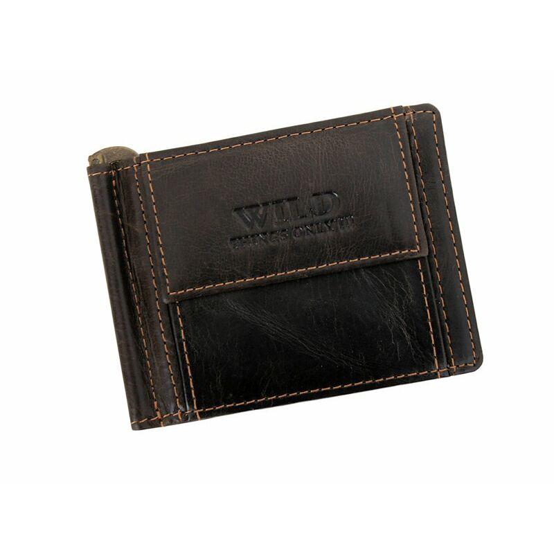 bb79be89df Wild valódi bőr férfi dollár pénztárca - Férfi pénztárcák ...